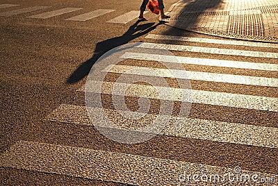 Pedestrian crossing, zebra street