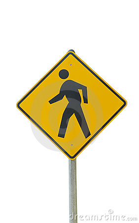 Free Pedestrian Crosswalk Sign Royalty Free Stock Photography - 8663097