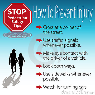 Pedestrian Safety Tips Poster