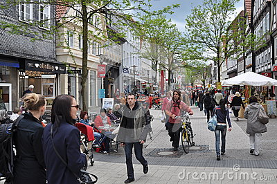 Pedestrian street Editorial Stock Photo