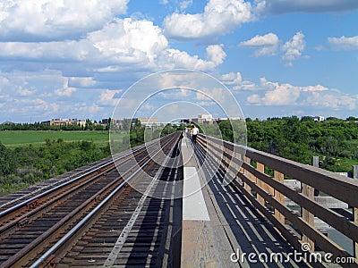 Pedestrian Train bridge