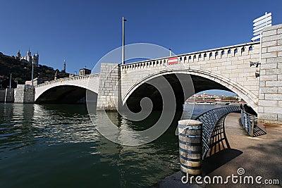Pedestrian walk under the bridge