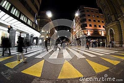 Pedestrian zebra crossing