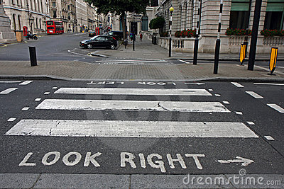 Pedestrian zebra crossing in London