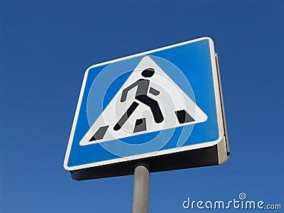 Pedestrians crossing sign