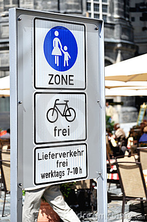 Pedestrians only sign