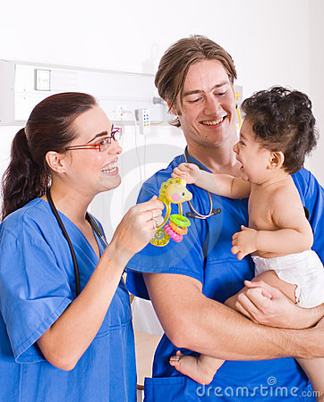Free Pediatrician And Baby Royalty Free Stock Image - 8097246