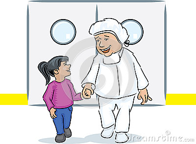 Pediatrician and girl