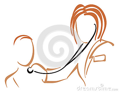 Pediatrician with stethoscope