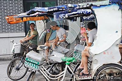 Pedicab Taxi Driver Editorial Image