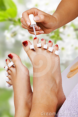 Free Pedicure In The Spa Salon Stock Photo - 24491570