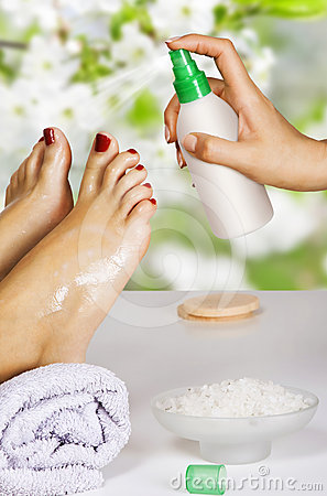 Pedicure in the spa salon