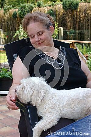 Free Pedigree Puppy On Lap. Stock Photography - 759262