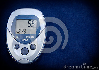 Pedometer In Blue