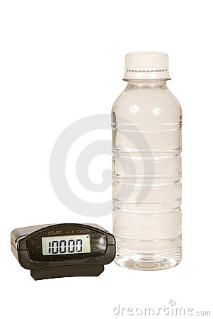 Pedometer and Water Bottle