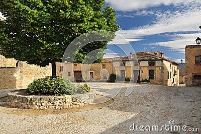 Pedraza, Castile, Spain. Village square