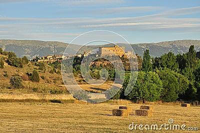 Pedraza castle by sunset, Castile region, Spain