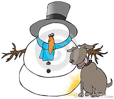 Pee On The Snowman