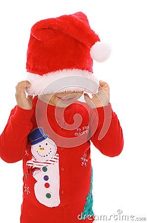 Peek a boo christmas child