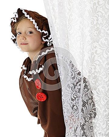 Peeking Gingerbread Girl