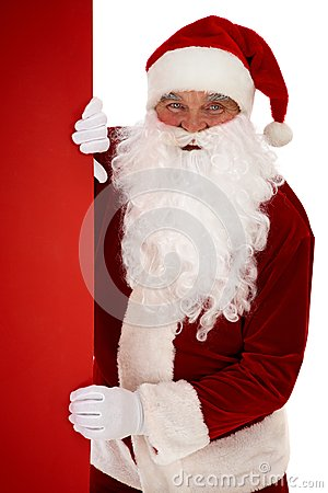 Peeking Santa Stock Photos - Image: 24739023