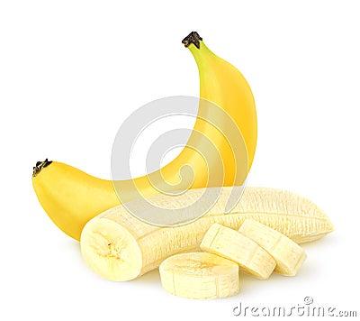 Free Peeled Banana Stock Images - 55954984
