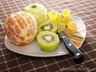 Peeled fruit