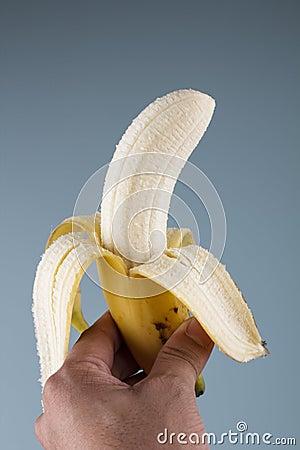 Free Peeled Off Banana Royalty Free Stock Image - 139830396