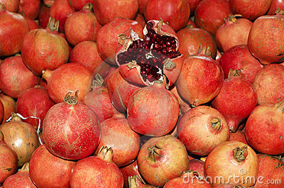Peeled off Pomegranate