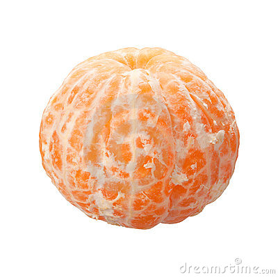 Peeled Orange with clipping path