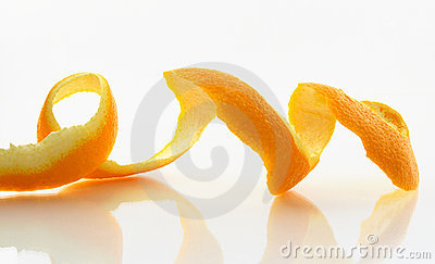 Peeled skin of an orange