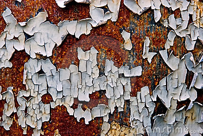 Peeling Paint On Rusty Metal Stock Photography - Image: 12880742