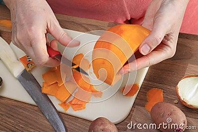 Peeling a Pumpkin