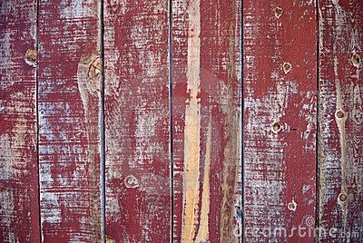 Peeling red paint - Wild West