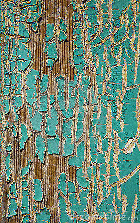 Free Peeling Turquoise Paint Royalty Free Stock Photos - 18645948