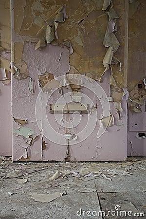 Rusty Iron Texture Peeling Wallpaper Stoc...