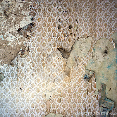 peeling wallpaper decor