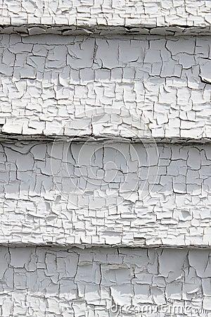 Peeling white paint