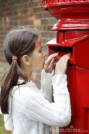 Peering into letter box