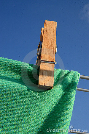 Free Peg On A Clothes Line Stock Photo - 6495980