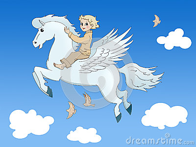 Pegasus and the boy