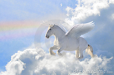 Pegasus in the clouds