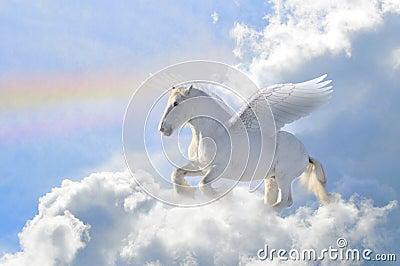 Pegasus in the clouds