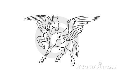 how to draw a pegasus wing
