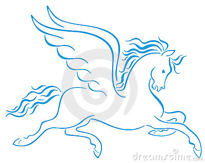 Pegasus Winged Horses Silhouettes