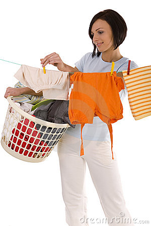Free Pegging Clothes On Line Stock Photos - 4494993