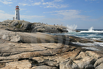 Peggy cove lighthouse Nova scotia Canada