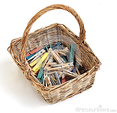 Pegs in a basket