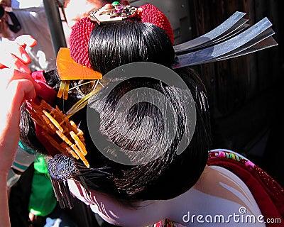 Peinado del geisha