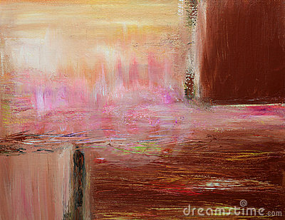 Peinture abstraite contemporaine chaude
